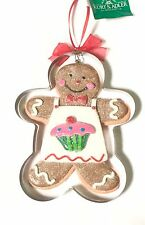Kurt Adler Baker Gingerbread Man w Cookie Cutter Christmas Tree Ornament D2463