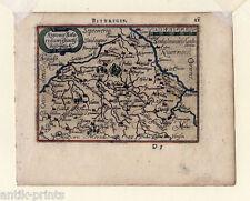 BERRY-BOURGES-France-France - cuivre clés-carte-map ORTELIUS 1600