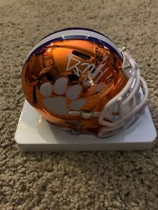DJ Uiagalelei Signed Clemson Tigers Chrome Alternate Mini Helmet