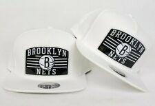 Mitchell & Ness White Brooklyn Nets snapback hat