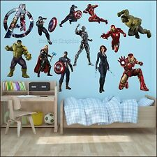 Large Avengers High Quality Full Colour Printed Cut Vinyl Wall Art Sticker Decal