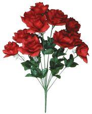 """Red 12-Rose 20"""" Bouquet Silk Flower Home Office Kitchen Patio Wedding Decor"""