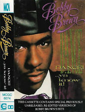 Bobby Brown ‎Dance!...Ya Know It! CASSETTE ALBUM Hip Hop RnB/Swing, Synth-pop