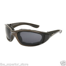 Xsportz Foam Padded Interior Frames XS48 Brown Biker Motorcycle Sunglasses