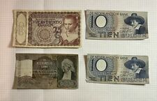 Niederlande, 4 alte Geldscheine 10 - 25 Gulden, 1941-1944
