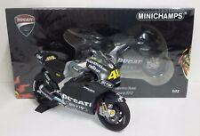 MINICHAMPS VALENTINO ROSSI 1/12 DUCATI GP12 MOTOGP TEST SEPANG 2012 L.E.1008 PCS