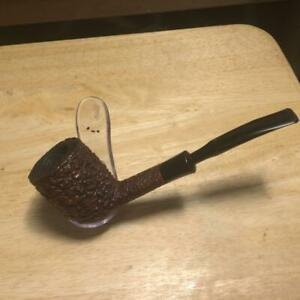 "Estate Pipe Rusticated ""Lord"" #24 Real Briar Smoking Pipe Made in Italy"
