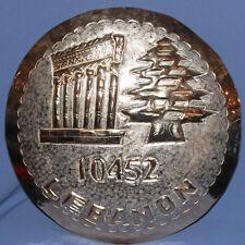 Vintage Arabic Lebanon hand made metal wall decor plaque