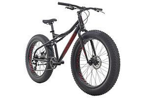 Mountainbike Hardtail Fatbike 26'' Alu SNW2458 Schwarz 8 Gänge RH 46 cm 380M