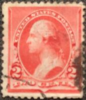 Scott #220 1890 US 2 Cent George Washington Postage Stamp XF NH