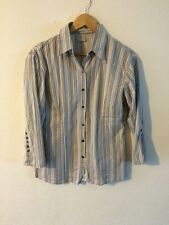Topic Fitted Shirt Top Stripe Size M 10-12 <R2384