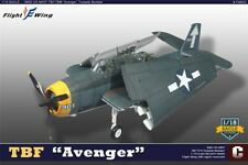 Flight Wing 1/18 WWII TBF Avenger White Tail with Pilot and 2 Gunners FW003C