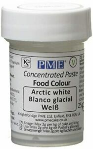 FOOD Colouring PASTE Concentrated Arctic White 25 G PME FREE Post