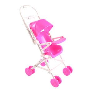 Cartoon Assembly Baby Stroller Trolley Nursery Furniture Toy for Dollhouse DBDA