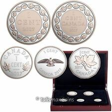 Canada 2017 Legacy of Penny 5 Coin Silver Proof Cents Set w/ Rose Gold Plating