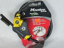 Master Lock 8413DPF Python Adjustable Locking Cable, 6-Foot x 3/8-inch New