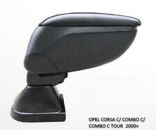 Opel Corsa C Combo C 2000- Armrest Centre Console Storage Adjustable Black