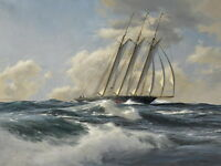 Art Print Sea Ship Classical Oil painting Giclee Printed on canvas P073