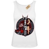 Better spark T-Shirt rockabilly hotrod speed shop pin up Vest White Womens