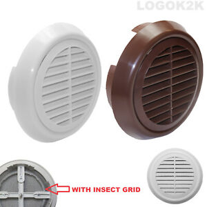Circle Air Vent Fit 95 to 155 mm Round Ducting Ventilation Cover Supply Fly Net