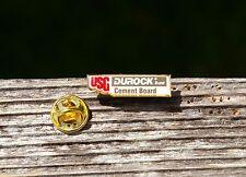 USG Durock Brand Cement Board Gold Tone Metal Lapel Pin Pinback