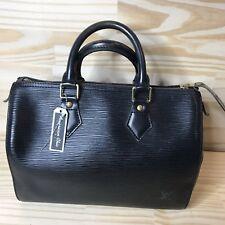 Authentic Louis Vuitton Hand Bag Speedy 25 Black Epi Noir Tote Bag Purse