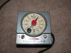 Vintage Master Time-O-Lite Photography Darkroom Timer M-59- TESTED