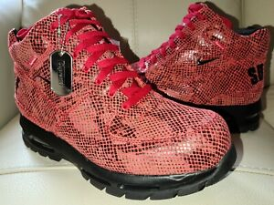 Supreme Nike Air Max Goadome Fire Red Debossed Snakeskin Size 10 IN HAND