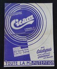 Ancien catalogue CICAM Clichy Métayer Manutention chariot élévateur palan poulie