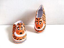 Baby  Pre-Walker Soft Bottomed Shoes- Orange & Black Tiger Design- Age 9-12mos