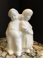 "Vintage1950 Dutch Boy & Girl Ivory Planter Vase by ""Cameron Clay Pottery"""
