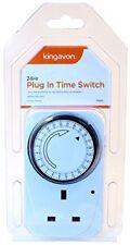 24 Hour Mains Plug In Timer Lights Switch Time Clock Socket UK Plug