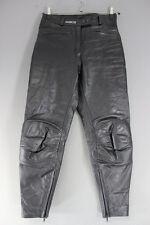 """ASHMAN BLACK COWHIDE LEATHER BIKER TROUSERS SIZE 14: WAIST 30""""/INSIDE LEG 27.5"""""""