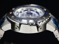 Invicta Mens 49mm GRAND Scuba Automatic BLUE Dial ALL SILVER Case Bracelet Watch