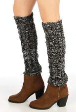 Gray Stretchy Leg Warmers 80s Aerobics Workout Costume Dancer Hosiery Boot Socks