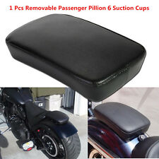 Black Leather Removable Passenger Sucker Cushions For Motorcycle Harley Davidson