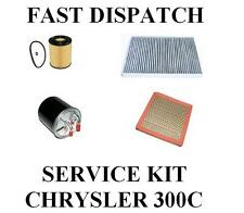 Chrysler 300C 300 C 3.0 CRD AIR OIL FUEL CABIN POLLEN 4 FILTER KIT SERVICE 05-10