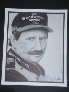 "Dale Earnhardt Sr ~ ""Portrait of the Intimidator"" ~ LIMITED EDITION PRINT w COA"