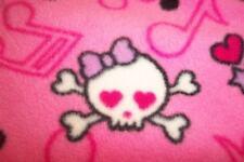 New Girls PINK SKULLS Footed Sleeper Pajamas XS 4 5