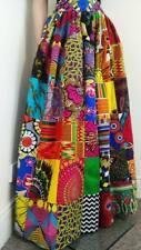 Patchwork African Printed Fabric Maxi/Full length Skirt 100% Wax Cotton Handmade