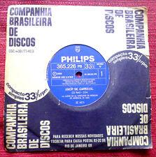 """ZÉ KETI ZE Amor de Carnaval / Nosso Carnaval BRAZIL 7"""" SAMBA PHILIPS MONO '68"""