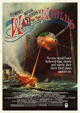 "WAR OF THE WORLDS huge repro poster 41x27"" Jeff Wayne movie style FREE P&P"