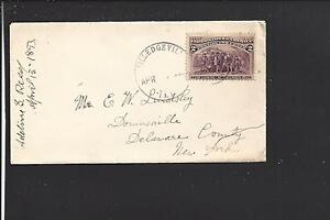 MILLEDGEVILLE,ILLINOIS 1893,#231 COVER, CARROLL CO. 1844/OP.