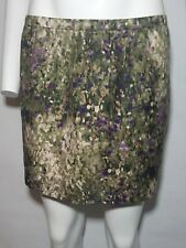 J. Crew Collection Skirt Green Mini Spotted Floral Pockets Womens Size 10 Medium