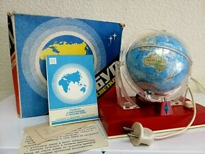 Vintage NOS USSR Space Age Globe Desk Lamp. Box and Papers.  Rare!!!
