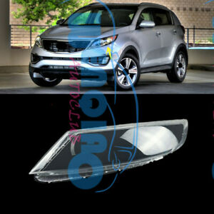 Left Side Headlight Clean Cover PC+Glue Fit for Kia Sportage 2013-2016