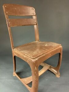 """1950's Vintage Wood & Steel American Seating Co. Child School Chairs - 11"""" Seat"""