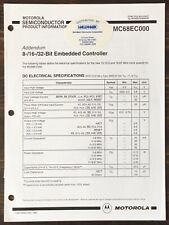 Motorola - Mc68000 8-/16-/32-Bit Embedded Controller Data Sheet Addendum (1992)