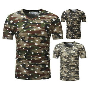 Men's Ourdoor Quick Dry T-Shirt Hunting Camouflage Military Short Sleeve Tops