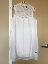 SUPERDRY British Design/Spirit of Japan White Sleeveless Dress Size L $129.00